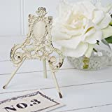 2 x Cream Ornate Easel Name Holders Table Number Holders Vintage Style Wedding Decorations by Bliss and Bloom
