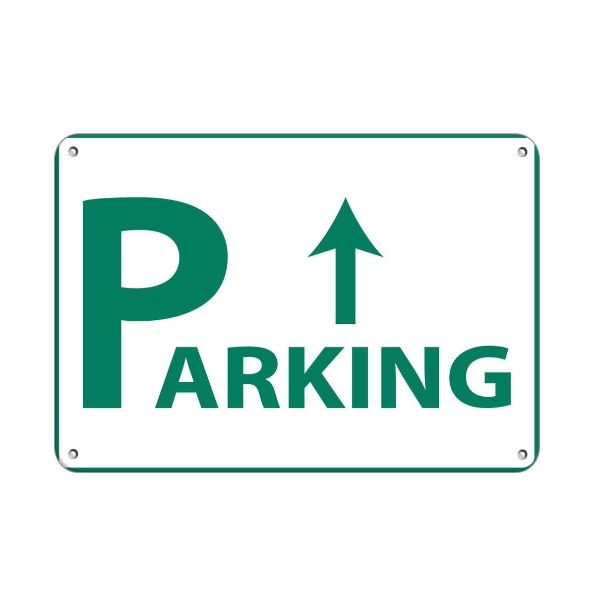 Parking Up Arrow Parking Sign LABEL DECAL STICKER Sticks to Any Surface 10x7