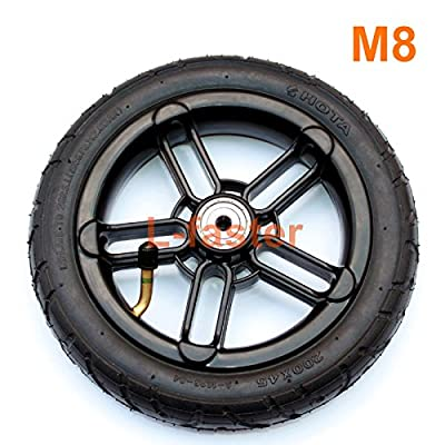 """200x35 Pneumatic Tyre Use Nylon Hub Fit M8 or M6 Axle 8\"""" Air Wheel for Scooter Replacement 8 Inch Inflatable Wheel Tube (M8): Toys & Games [5Bkhe1001772]"""