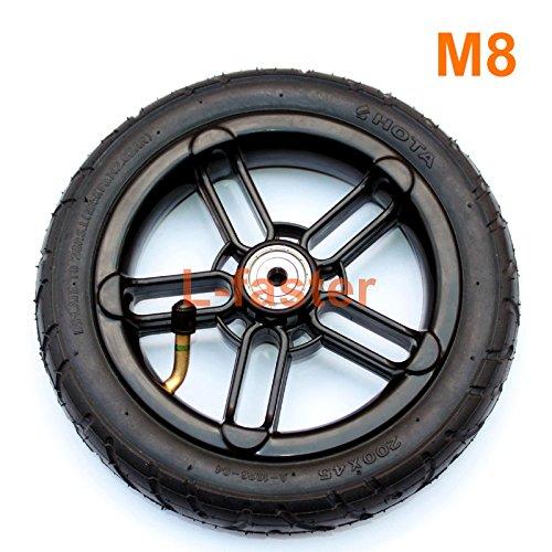 200 x 35 Pneumaticタイヤ使用ナイロンハブフィットm8 or m6車軸8