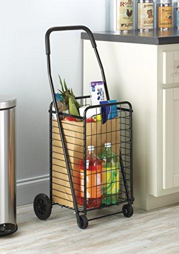 Whitmor Rolling Utility/Shopping Cart Black