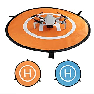 "Behorse Universal Landing Pad Portable Foldable Waterproof for DJI Mavic Mini 2/ Mavic Air 2/Mavic Mini// Mavic Pro / Mavic Air /Spark/ Phantom 3/4/4 Pro/FIMI X8SE Drone Quadcopter (21.65""/55cm)"
