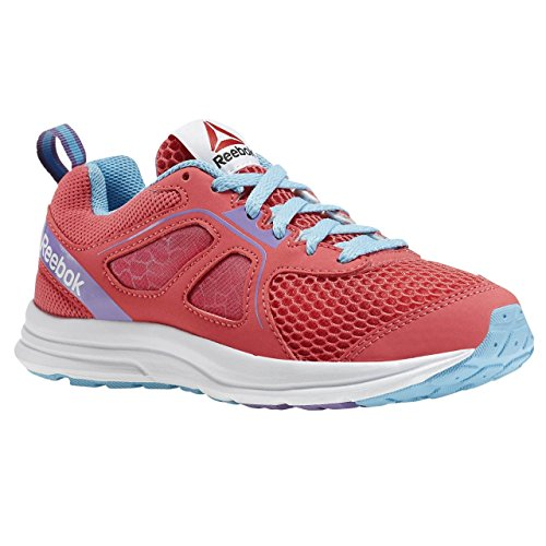 Reebok Zone Cushrun 2.0 Zapatillas de deporte, Niñas Rosa / Azul / Morado / Blanco (Fearless Pink/Blue Splash/Smoky Violet/W)
