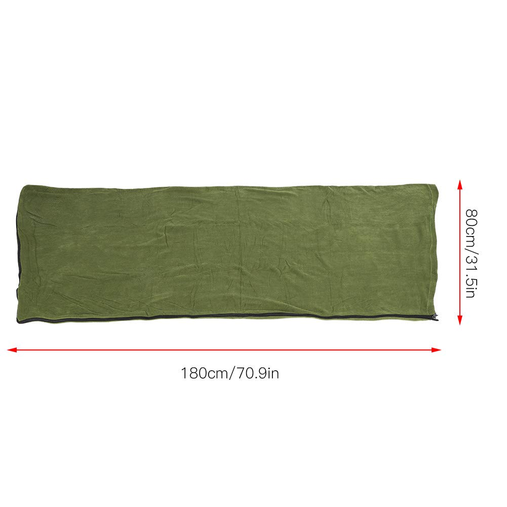 Outdoor Camping Wandern Umschlag Tragbare Polar Fleece Anti-Pilling-Umschlag Schlafsack Jacksking Schlafsack