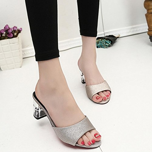 Loafers Heel Elevin PeepToe Women Shoes Bohemia Slipper Summer TM Gold Fashion Sandals High wqFfxzpqr0