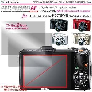 Micro Solution Digital Camera Anti-Fingerprint Display Protection Film (Pro Guard AF) for Fujifilm FinePix F900EXR, F800EXR, F770EXR, F600EXR, and F550EXR // DCDPF-PGFPF550EXR