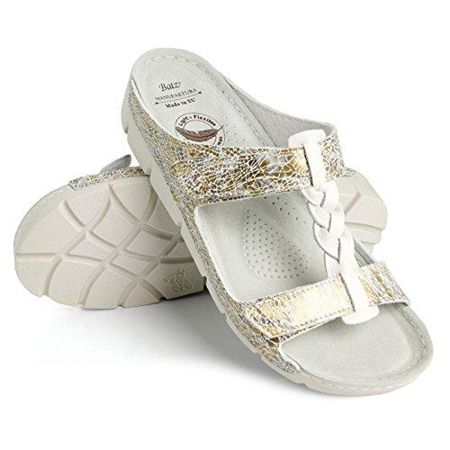Batz BORI Handmade High Quality Leather Slip-on Womens Ladies Sandals Mule Clogs Slippers Shoes Stone Tvrz4q4