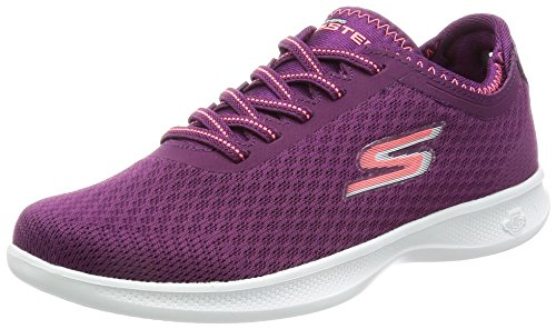 Skechers Performance Women's Go Step Lite Lace-up Walking Shoe Purple/Pink Mesh