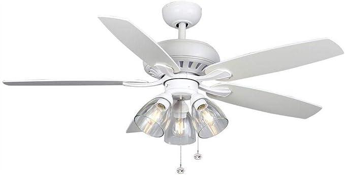 Hampton Bay Rockport 52 pulgadas Ventilador de techo LED blanco ...