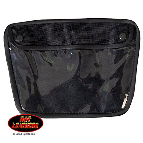 Magnetic Leather and Nylon Window Pocket Tank Bag - Map Holder - Biker Gear