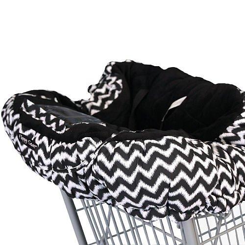 Floppy Seat Ultra Plush Shopping Cart & High Chair Cover - Midnight Chevron
