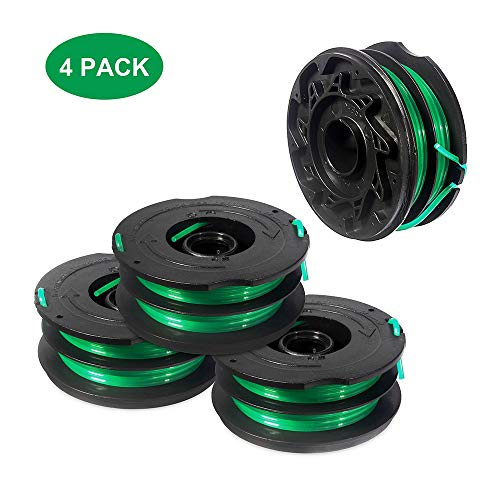 Thten String Trimmer Spools Replacement for Black Decker GH1100 GH1000 GH2000 Weed Eater DF-080 Replacement Spool Line Refills Dual Line Edger Parts 30ft 0.080
