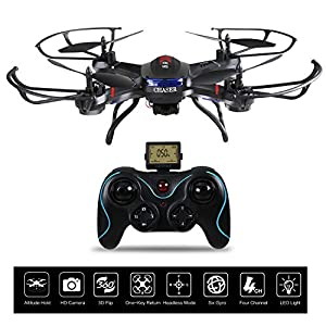 Holy Stone F181C RC Quadcopter Drone with HD Camera RTF 4 Channel 2.4GHz 6-Gyro with Altitude Hold Function,Headless Mode and One Key Return Home, Color Black from Holy Stone