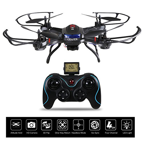 Holy Stone F181C RC Quadcopter Drone with HD Camera RTF 4 Channel 2.4GHz 6-Gyro with Altitude Hold Function,Headless Mode and One Key Return Home, Color Black by Holy Stone (Image #1)