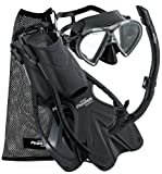 Phantom Aquatics Speed Sport Mask Fin Snorkel Set, Adult