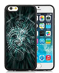 Beautiful Designed Cover Case For iPhone 6 4.7 Inch TPU With Chinese Dragon Black Phone Case