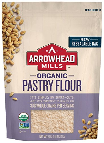 Arrowhead Mills Organic Pastry Flour, 20 oz. Bag (Pack of 6)