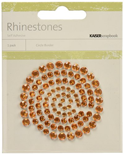 Rhinestone Orange (Kaisercraft Self Adhesive Rhinestones, 100 Per Package, Orange, 12 Packets)