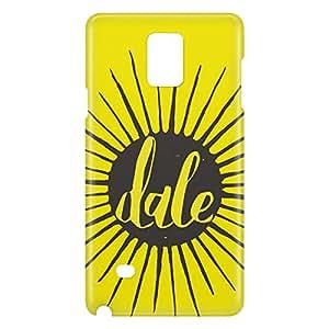 Loud Universe Galaxy Note 4 Dale Print 3D Wrap Around Case - Yellow/Black