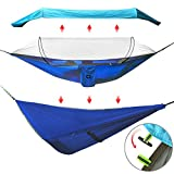 Unique Sun-proof Design Blue detachable cloth cover the mosquito net have effective shading that blocks dazzling light for your head and eyes. Mutiple modes of usage: Set up with pop up mosquito net and blue cloth to block dazzling light for your hea...