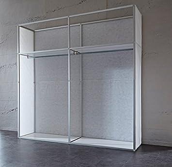 fashion-cube máximo, Armario de Puertas correderas, FSB, diseño Fábrica Pared ladrillo Rojo, tamaño Aprox. 212 x 208 x 65 cm: Amazon.es: Juguetes y juegos