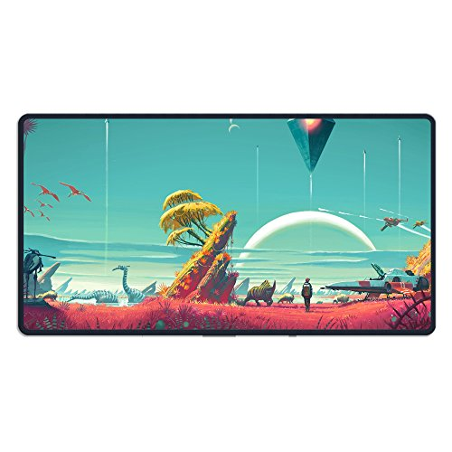 Price comparison product image MPLCHET Custom No Man's Sky Best Games 2015 Game Sci-fi Space Fantasy Mouse Pads Gaming Pad Large Mouse Mats 15.74in X 29.5in