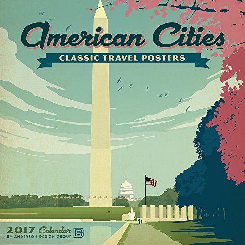 American Cities Classic Posters - 2017 Calendar 12 x 12in