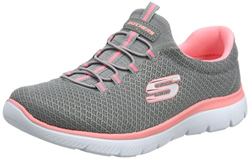 Skechers Sport Women's Summits Sneaker,Grey/Pink,7 M - Summit Shopping
