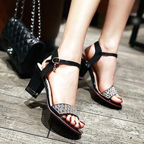 Sandali Slingback Tacco Medio Con Cinturino E Cinturino Alla Caviglia