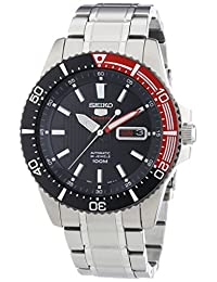 Seiko Men's 5 Automatic SRP557K Silver Stainless-Steel Automatic Watch