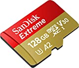 SanDisk 128GB Extreme microSD UHS-I Card with Adapter - U3 A2 - SDSQXA1-128G-GN6MA