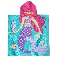 """Toalla con capucha Athaelay para niñas, de 1 a 5 años de edad, para niños y niños pequeños Algodón ultra suave, súper absorbente, extra grande, 48 """"x 24"""", uso para baño /piscina /playa, tema sirena"""