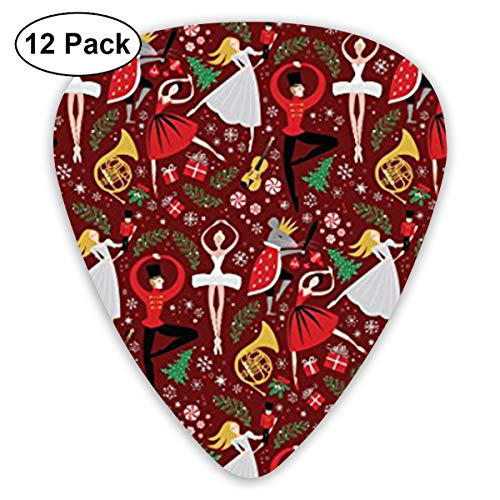 (WGYWE Nutcracker Ballet Classic Premium Guitar Picks 12 Pack Assorted Colorful Design - for Electric, Acoustic, Bass Guitar)