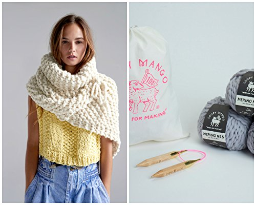 Loopy Mango DIY Kit - Her Shawl (Butter) by Loopy Mango