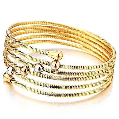 Multi lap Elastic Adjustable Twisted Bracelet