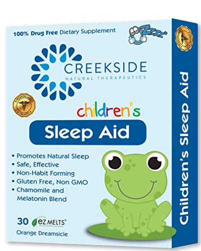 Creekside Naturals Sleep Aid for Children, Zero Sugar, Vegan, Pediatrician Formulated, Orange Dream Flavor, 45 EZ Melt Tablets