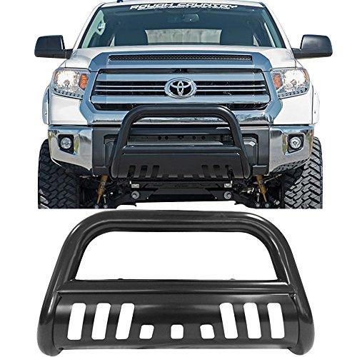 Bull Bar Fits 2007-2017 Toyota Tundra | Black Front Bumper Brush Push Grill Guard by IKON MOTORSPORTS | 2008 2009 2010 2011 2012 2013 2014 2015 2016