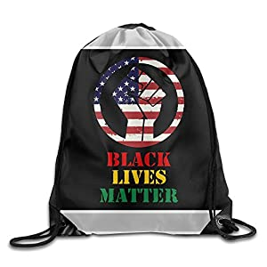 Acosoy Black Lives Matter Drawstring Backpacks/Bags