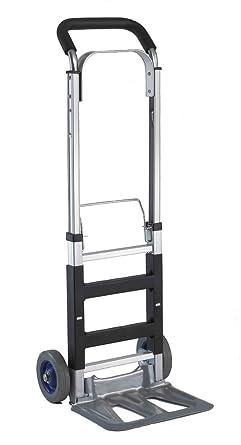 T-EQUIP ALU-120 - Carretilla de aluminio, plegable y manual, plataforma rodante compacta, 120 kg de capacidad de carga, AnxPxAl: 40 x 41,5 x 110 cm: Amazon.es: Industria, empresas y ciencia