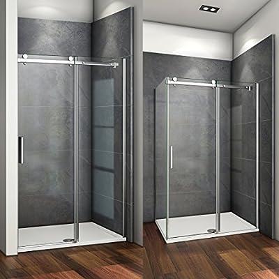 115x195cm Mamparas de ducha puerta de ducha 6mm vidrio templado de ...