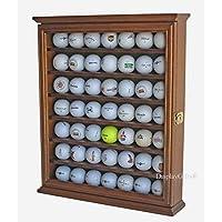 49 Estante de exhibición de pelotas de golf, gabinete, soporte para rack con bloqueo, (nogal)