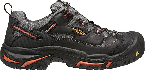 KEEN Utility Men's Braddock Low Steel-Toed Boot,Black/Bossa Nova,10.5 D US by KEEN Utility
