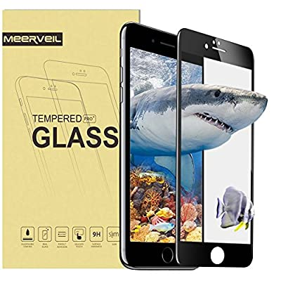 iPhone 7 7 Plus Screen Protector,Meerveil 3D Full Screen Cover Tempered Glass Screen Protector Film,9H Hardness High Definition Bubble Free Anti-Scratch Tempered Glass