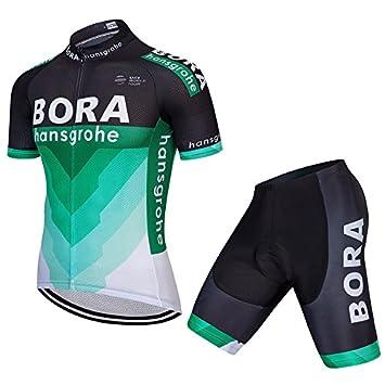 Jersey de ciclismo de manga corta para hombres con pantalones cortos de  babero - Trajes de 1366ea173a0c1
