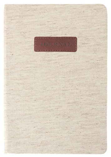 Eccolo World Traveler Linen Plaque 6x8 Flexi Cover Journal, Premium Lined Pages