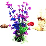 Fish Tank Aquarium Decor Accessories Artificial Water Plant Purple Plastic Grass Set 110