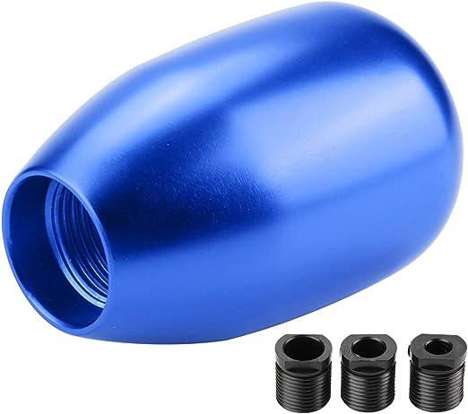 Schaltknäufe Fydun 5 Gang Auto Schaltknauf Schalthebel Stick Mit 3 Adaptern 8mm 10 Mm 12mm Auto Innenausstattung Blau Auto
