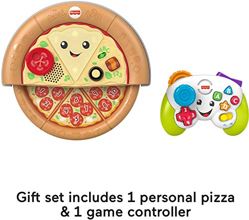 Fisher Price Laugh and Learn Game and Pizza Party Gift Set of 2 Toys with Lights Music and Learning Content for Baby and…