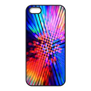 Iphone 5/5S Case, Colorful Laser Spots Case for Iphone 5/5S Black Leemarson if4111409