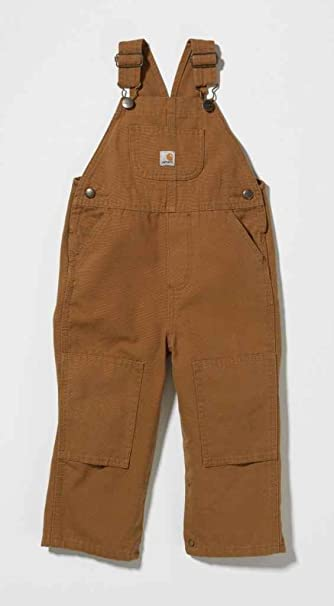 67d4051b1dc Image Unavailable. Image not available for. Color: Carhartt Washed Bib  Overalls Carhartt Brown 3 MO -Kids